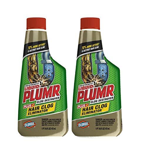 Hair Clog Eliminator, Liquid Drain Cleaner - 16 Ounces - 2 Pack