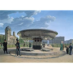 'Johann Erdmann Hummel-The Granite Dish In The Berlin Lustgarten,1831' Oil Painting, 24x33 Inch / 61x85 Cm ,printed On Perfect Effect Canvas ,this Best Price Art Decorative Canvas Prints Is Perfectly Suitalbe For Home Theater Decor And Home Gallery Art And Gifts