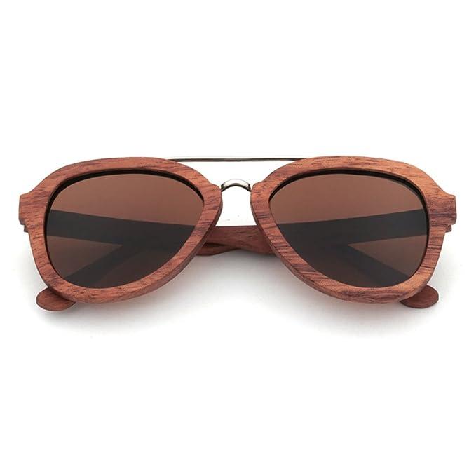LiHOOD Palo de rosa Gafas de sol Hombre Mujer Lente de ...
