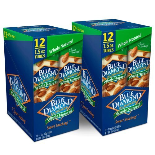 Price comparison product image Blue Diamond Almonds,  Whole Natural Raw Almonds,  1.5 Ounce (Pack of 24)