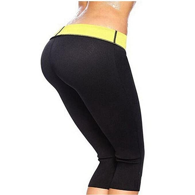 25299030f0 Amazon.com  Women s Slimming Long Pants Leggings Yoga Hot Thermo Neoprene  Sweat Sauna Body Shapers for Weight Loss  Clothing