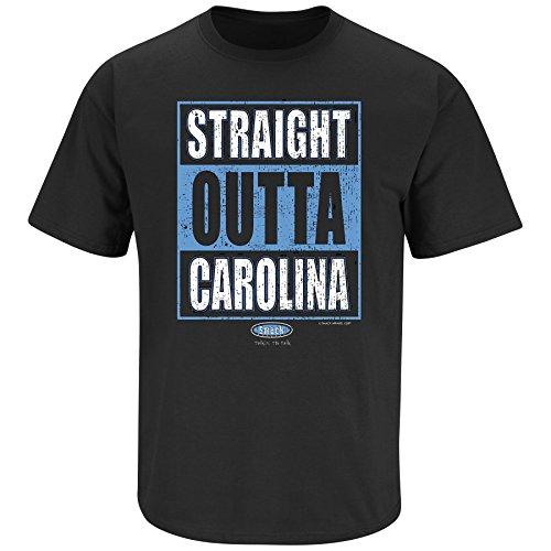 Carolina Panthers Fans. Straight Outta Carolina Black T Shirt (Sm-5X) (X-Large)