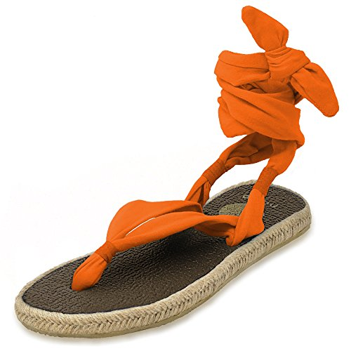 Sandals Mat Women's Espadrilles Foam Nalho Yoga Karabi Orange Memory EYBpwqwC