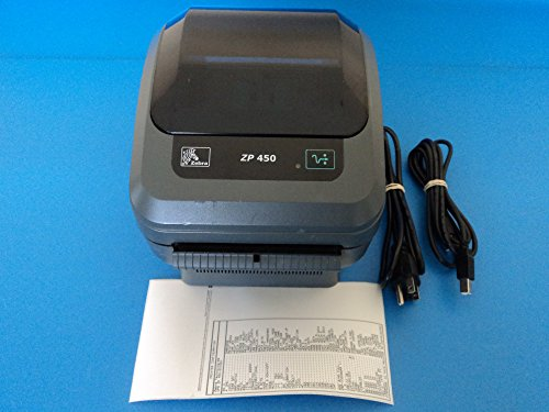 - Zebra ZP 450 USB Thermal Label Printer with Cables ZP450-0501-0006A