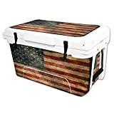 MightySkins Protective Vinyl Skin Decal Wrap for RTIC 45 qt Cooler (2016) Cover Sticker Vintage Flag Review