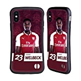 Official Arsenal FC Danny Welbeck 2017/18 First Team Group 1 Hybrid Case for iPhone X/iPhone XS