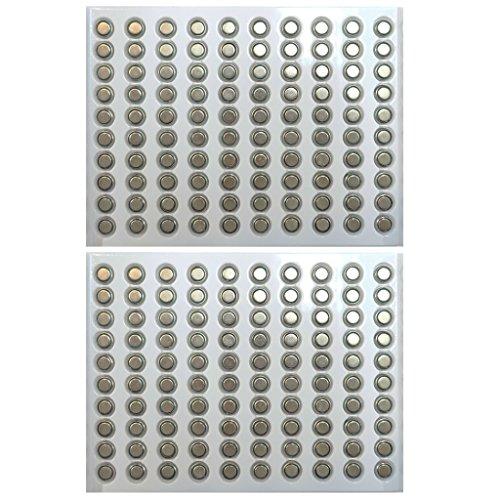 TrendBox (200Batteries) AG1 Alkaline 1.5V Button Cell Battery Single Use LR60 164 V364 GP364 LR621W TR621 Watch Toys Remotes Cameras