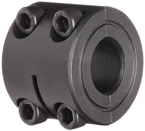 Climax Metal D2C-050 Two-Piece Clamping Collar, Double Wide, Black Oxide Plating, Steel, 1/2