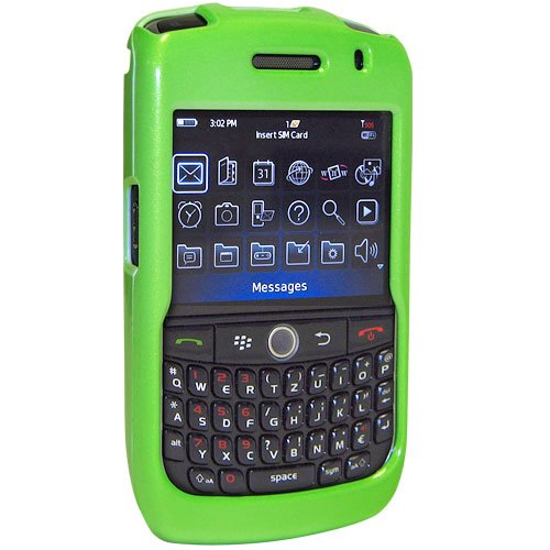 Amzer Snap-On Case for BlackBerry Curve 8900 - Polished Neon Green