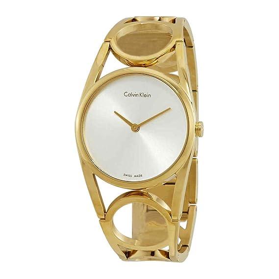 Calvin Klein Reloj Digital para Mujer de Cuarzo con Correa en Acero Inoxidable K5U2M546: Amazon.es: Relojes