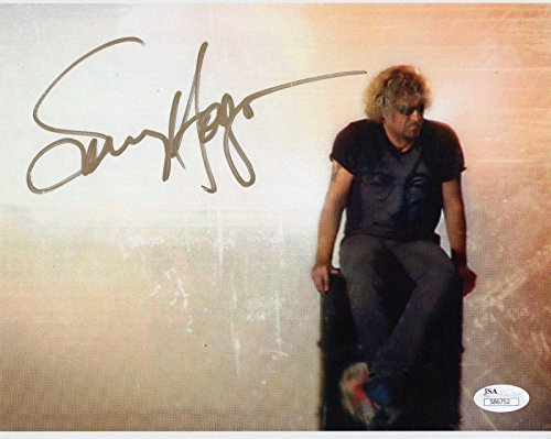 SAMMY HAGAR HAND SIGNED 8x10 COLOR PHOTO VAN HALEN THE RED ROCKER - JSA Certified (Red Rocker Sammy Hagar)