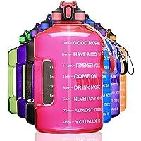 1 Gallon waterfles met tijdmarkering en stro, BPA vrij 122 oz lekbestendige motiverende grote waterfles kruik met…