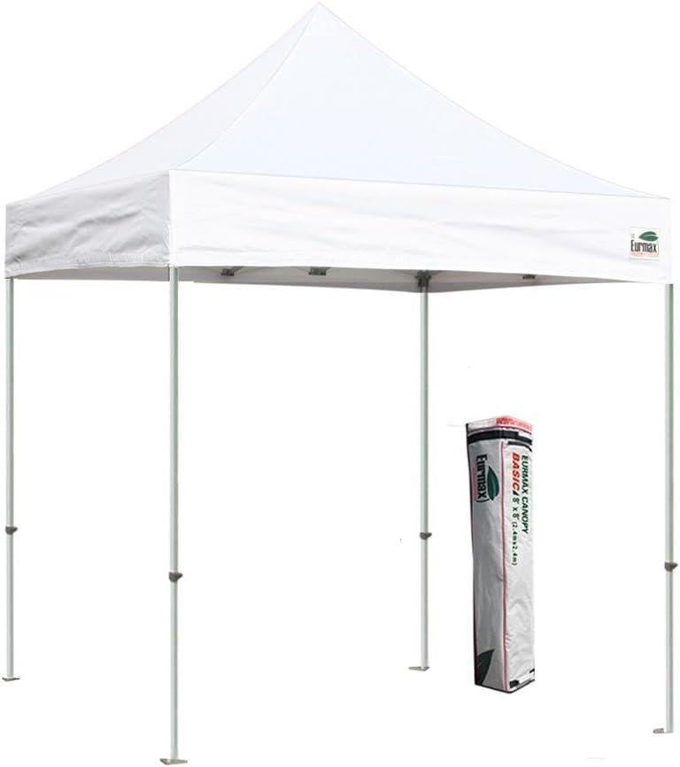 Basic 8 x 8 pies EZ Pop Up Canopy carpa comercial carpa Bonus Deluxe bolsa de transporte: Amazon.es: Jardín