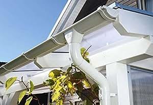Cabaña Madera Metal de canalones para tejado plano de CarPort 434cm, color blanco