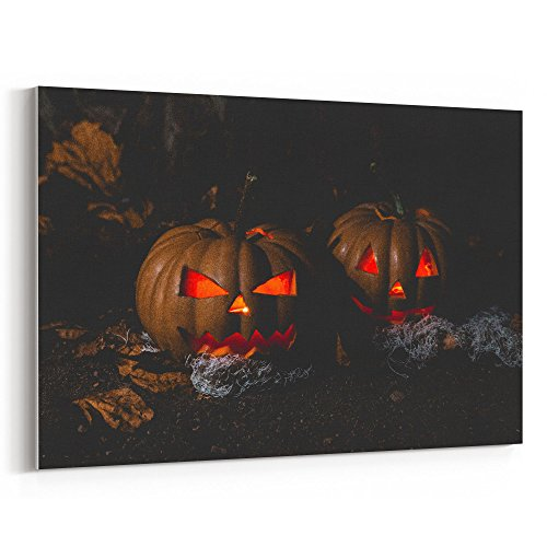 Westlake Art Close-Up Creepy - Canvas Print Wall Art - By Canvas Stretched Gallery Wrap Modern Picture Photography Artwork - Ready to Hang 12x18 Inch (Halloween Horror Nights 2017 Poster)
