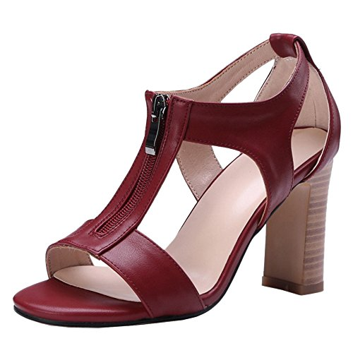 Block Claret Coolcept Sandals Heel Women Shoes 5Ca5qxf0w