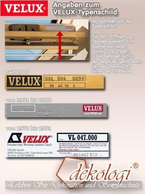 MK06 Rollo mit Haltekrallen f/ür GGL // GHL // GTL // GPL M04 M10 310 und GGU // GHU // GTU // GPU M04 M10 MK04 MK08 M06 306 308 M08 MK08 M06 MK06 304 M08 MK04 MK10 MK10 // Stofffarbe 1028 // Uni Wei/ß //// Original Velux Sichtschutzrollo