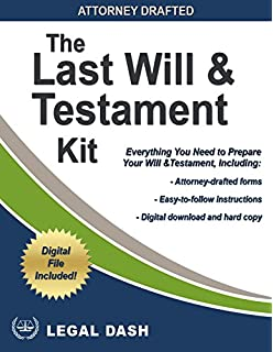 Amazon last will testament forms usa do it yourself legal dash last will and testament forms with instructions do it yourself last will and solutioingenieria Images