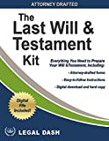 Legal Dash Last Will and Testament Forms with Instructions – Do It Yourself Last Will and Testament - Includes Digital Downloads