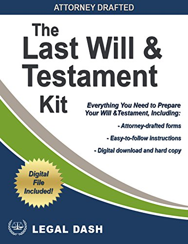 Amazon legal dash last will and testament forms with legal dash last will and testament forms with instructions do it yourself last will and solutioingenieria Gallery