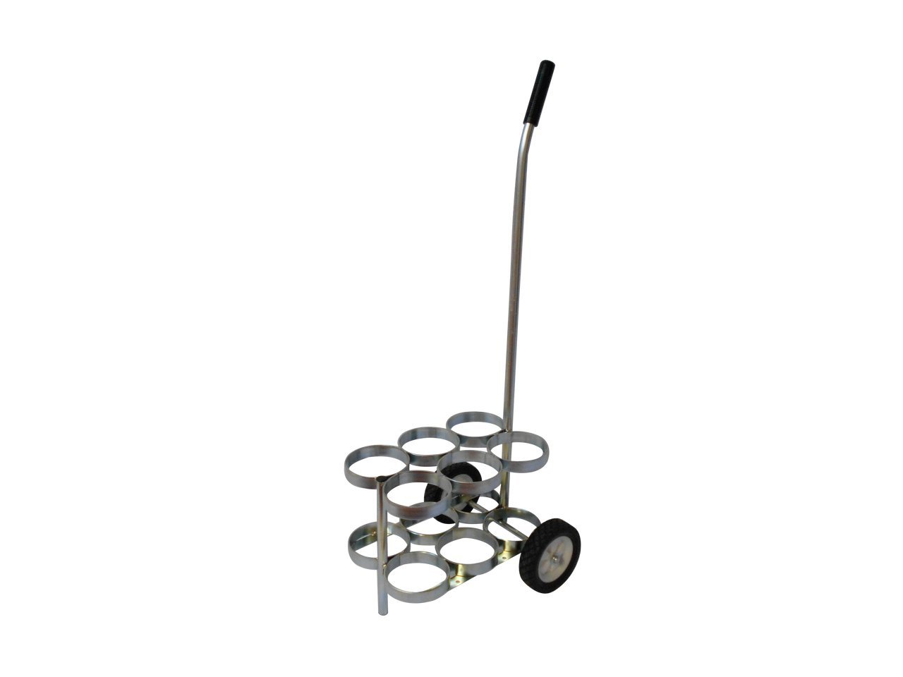 FWF OXYGEN CART WITH ADJUSTABLE HANDLE HOLDS UP TO 6 (D, E OR C STYLE) CYLINDER DIAMETER OF 4.3'' MADE IN USA
