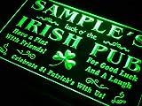 ADVPRO Name Personalized Custom Luck o' The Irish Pub St Patrick's Neon Light Sign Green 12'' x 8.5'' st4s32-qv-tm-g