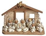 Miniature Kids Nativity Scene with Creche, Set of 12...