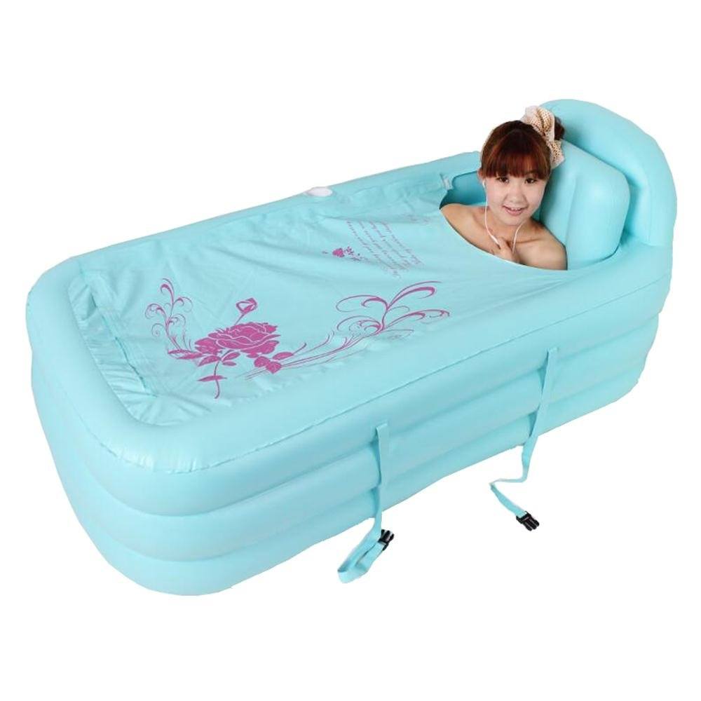 GAIXIA Thicken Large Inflatable Bathtub Folding Bathtub Tub Adult Tub Swimming Pool Inflatable Bathtub (Color : Blue)