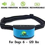 [2017 CHIP] Pro Pet Works RECHARGEABLE No Bark Collar-NO SHOCK Dog Bark Collar For Small Medium And Large Dogs-Humane Vibration Collar
