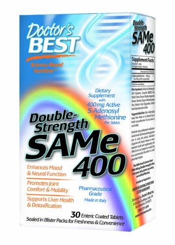 Meilleur médecin de SAMe 400 mg (Double Force), des comprimés à enrobage entérique, 30-Count