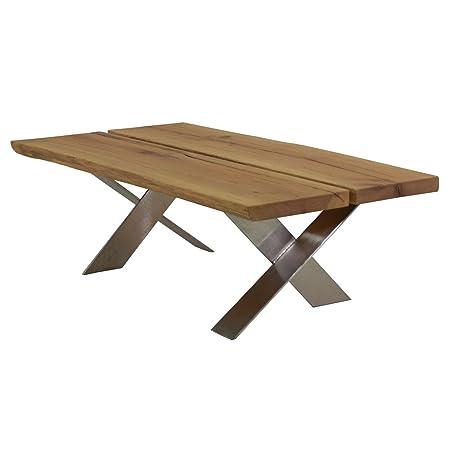 Couchtisch Wohnzimmertisch Milton 120x70 Massivholz Holz Eiche