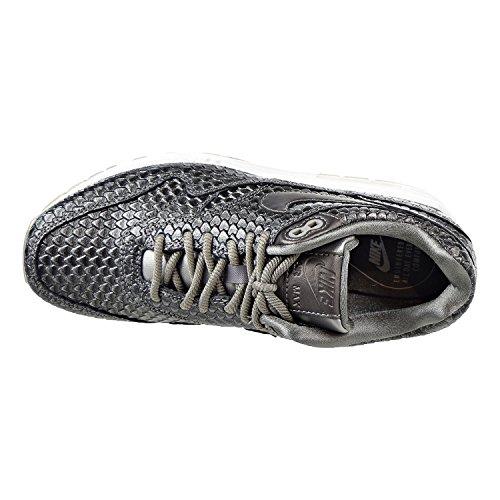Nike Womens Air Max 1 Prm Scarpa Da Corsa Metallizzata In Peltro