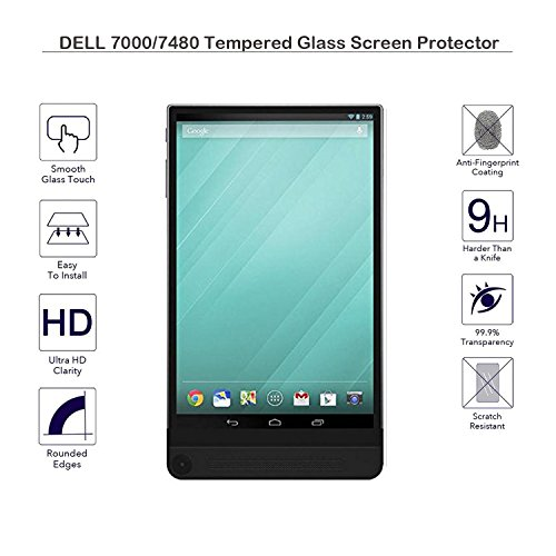 MOTONG New Dell Venue 8 7000 Series 7840 tablet Tempered Glass Screen Protectors For (Dell 7000), 9 H Hardness, 0.3mm Thickness,Made From Real Glass, Shatterproof(Fulfilled by Amazon)