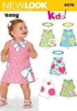 New Look Sewing Pattern 6576 Babies Dresses, Size A (NB-S-M-L)
