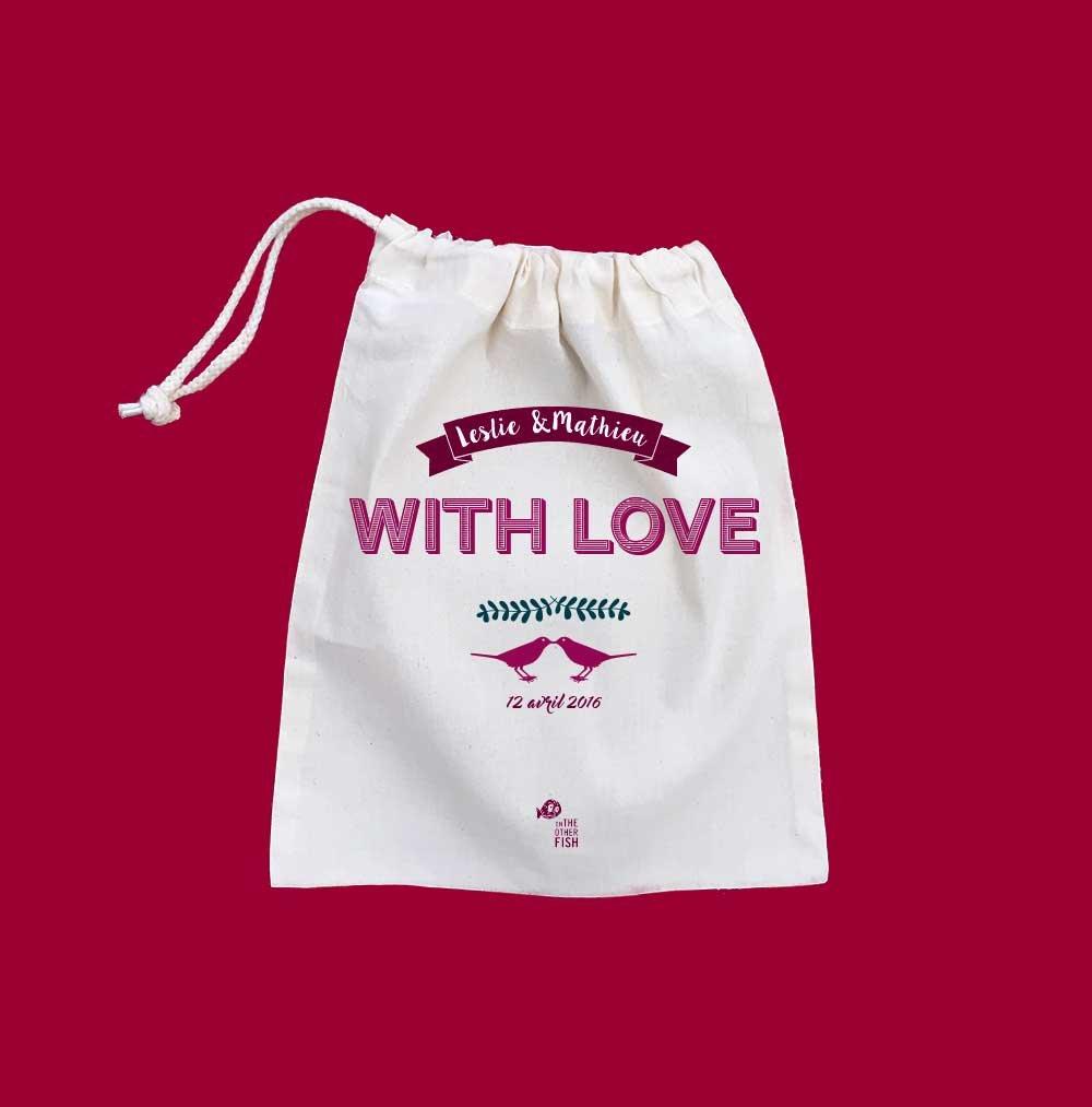 Pochette personnalisée Avec amour