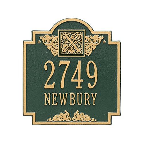 Monogram Standard Address Plaque Finish: Green and Gold