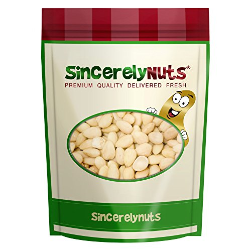 Sincerely Nuts Blanched Whole Almonds Raw - Five Lb. Bag- Unbelievably Tasty - Guaranteed Freshness - Insanely Nutritious - Kosher