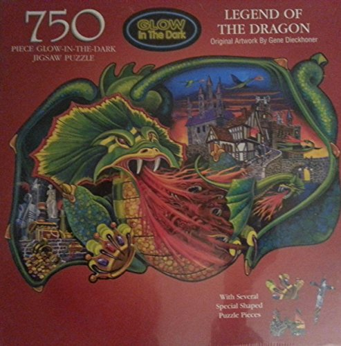 Legend of the Dragon, 750 Piece Glow-in-the-dark Jigsaw Puzzle