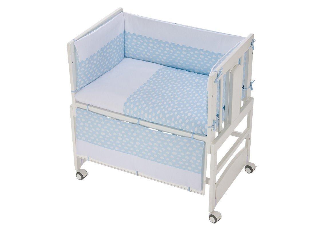Kinderbett, Co-Sleeping Allegra mit Motte Nubi Celeste