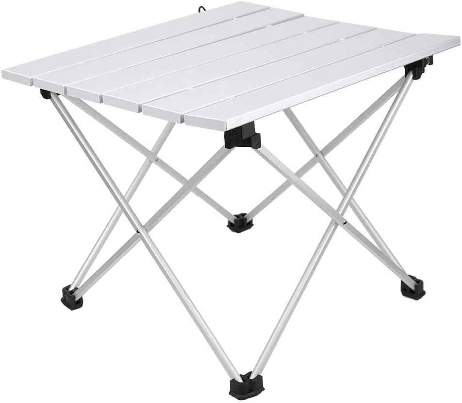 Grande Tavolo da Pranzo allaperto Portatile da scrivania Pieghevole in Lega di Alluminio con Resistente Borsa in Nylon per Campeggio//Escursionismo//Picnic Tavolo Pieghevole da Esterno