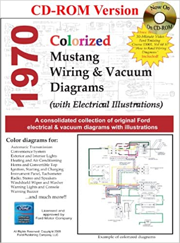 1970 colorized mustang wiring & vacuum diagrams multimedia cd – may 29, 2008