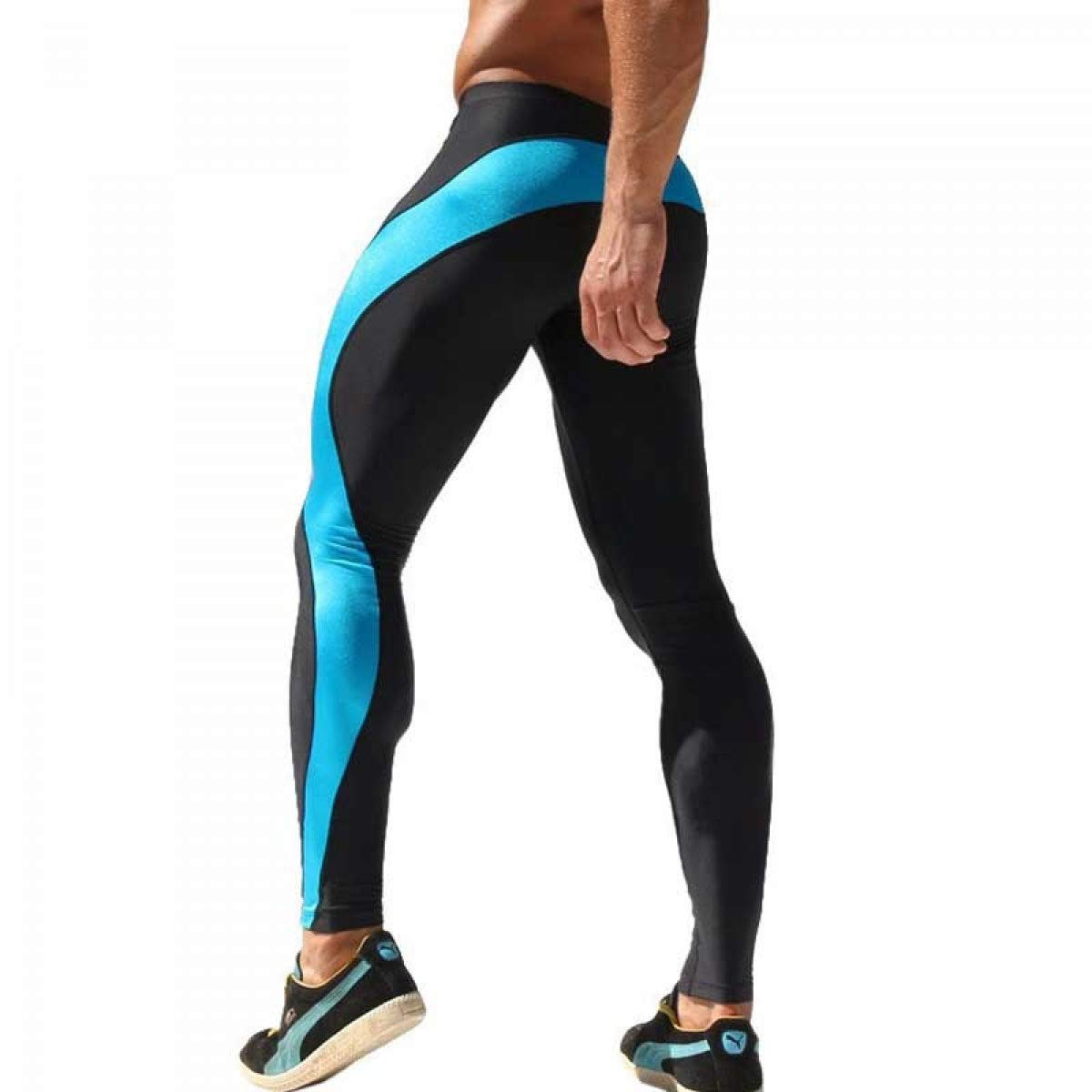 Amazon.com: HOMZE Mens Running Tights High Stretchy Legging ...