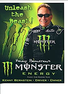Kenny Bernstein NHRA Top Fuel Dragster Signed Autograph Photo - Autographed Sports Photos by Autographed Cards