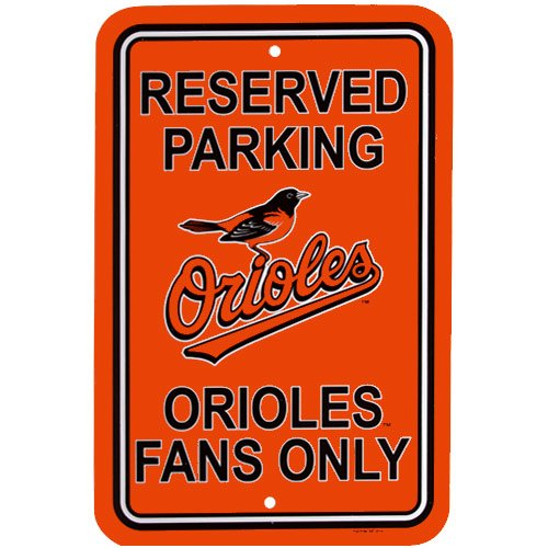 Baltimore Orioles MLB Plastic Parking Sign