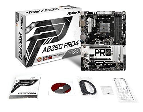 asrock ab350 pro4 atx motherboard