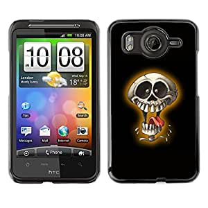 LECELL -- Funda protectora / Cubierta / Piel For HTC G10 -- Laughing Skull --
