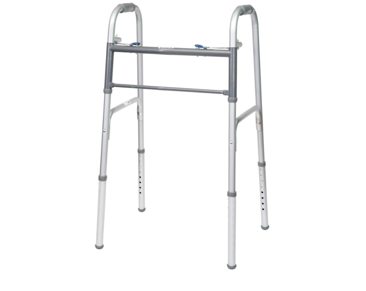 ProBasics Economy Two-Button Folding Steel Walker, (Adult) by ProBasics