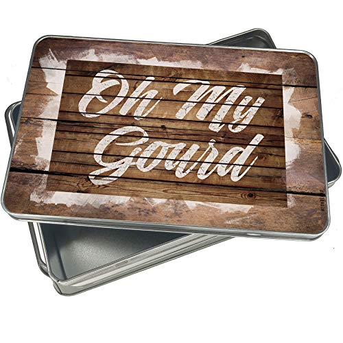 (NEONBLOND Cookie Box Painted Wood Oh My Gourd Christmas Metal)