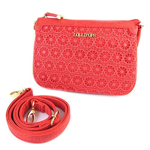 Scomparti Cm Touch' Bag Rosso 'lollipops'pizzo 'french 3 22x15x5 wX8xHnq