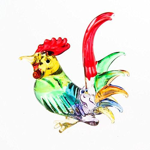 Miniature Blown Glass Blowing Art Hen gifts Animals Decor Chicken Birds Handmade
